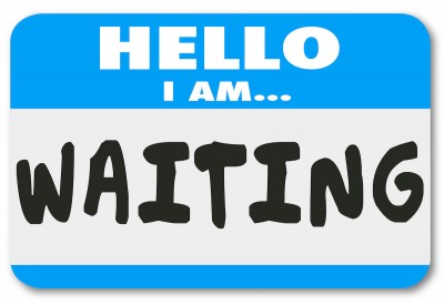 Hello I Am Waiting Name Tag