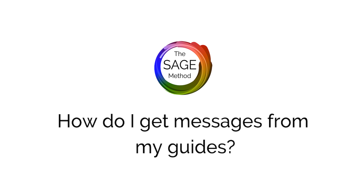 How do I get messages from my guides